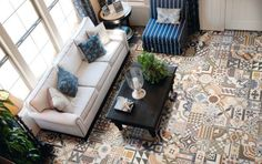 living room interior The Zellij (tiles) trend, for a modern home with a Moroccan touch