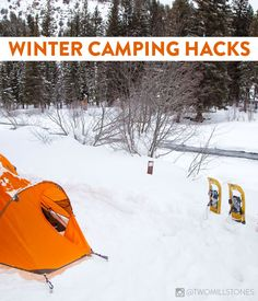 Winter Camping Hacks Don't let the snow keep you inside! Camping during the winter months is still fun.and totally doable with these great winter camping hacks uses! Snow Camping, Cold Weather Camping, Winter Camping, Camping And Hiking, Family Camping, Women Camping, Backpacking Tent, Tent Camping, Camping Gear
