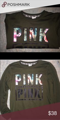 VS Pink crew me know size small. No trades please. 🌺 PINK Victoria's Secret Sweaters Crew & Scoop Necks