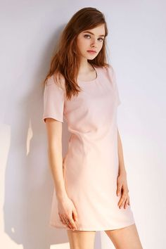 Kimchi Blue Woven A-Line Tee Dress - Urban Outfitters