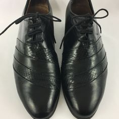 Stacy Adams Genuine Snake Skin Leather Lace Up Oxfords Men's 7.5M Shoes Black #StacyAdams #Oxfords