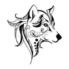 tatouage: vecteur de tatouage de tête de loup