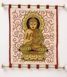 Golden Buddha Cross Stitch by Joan Elliott
