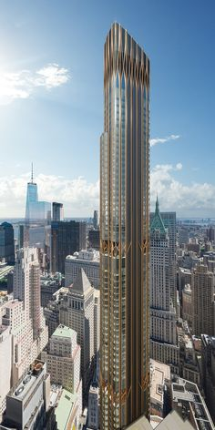 Gallery of Art Deco Inspired 45 Broad Street by CetraRuddy to Become Tallest Residential Tower in Lower Manhattan – 3 Art Deco Inspiriert 45 Broad Street von CetraRuddy, um der höchste Wohnturm in Lower Manhattan zu werden, © CetraRuddy Futuristic City, Futuristic Architecture, Amazing Architecture, Cultural Architecture, Residential Architecture, Architecture Design, Chinese Architecture, Architecture Office, Classical Architecture