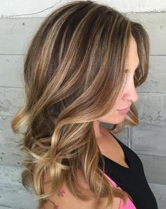 50 Ideas for Light Brown Hair with Highlights and Lowlights - Illuminating Lowlights - Brown Hair Shades, Brown Blonde Hair, Light Brown Hair, Brown Hair Colors, Brunette Hair, Brown Hair With Highlights And Lowlights, Hair Color Highlights, Brunette Highlights, Peekaboo Highlights