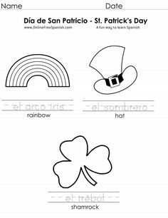 Printables for San Patrick's Day -