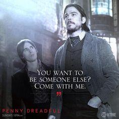 Penny Dreadful - Reeve Carney as Dorian Gray and Josh Hartnett as Ethan Chandler