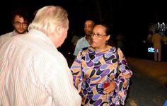 World Travel Awards president Graham Cooke greets Seychelles Breweries managing…