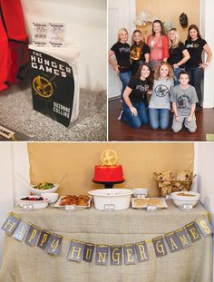 Hunger Games party. Wish I was friends with them so I could go to a cool party like this!