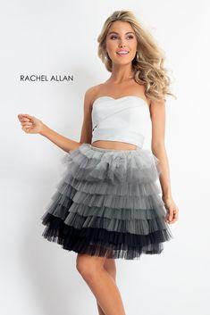 699022cee8 Homecoming Dress  4596 in Silver Black. Rachel Allan