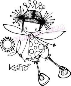 *Stamping Bella Stamp MAISY KETTO Rubber UM KET109