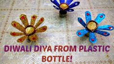 DIY Diwali.Christmas Home Decoration Ideas:How TO Make Diwali Diya Stand Diya from 2 Plastic Bottles