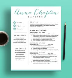 Modern Resume Template  The Amelia  Fonts Creative And Words