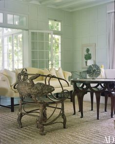 WHITE MARKET - Mark D. Sikes: Chic People, Glamorous Places, Stylish Things                                                                        Oh my, that is quite an interesting chair!