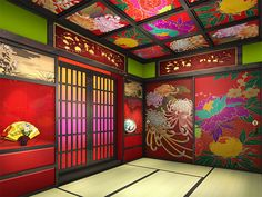 30 Best Inspiring Lunar New Year Decoration Ideas - Elevatedroom Japanese Modern, Japanese Landscape, Japanese Architecture, Japanese House, Interior Architecture, Interior And Exterior, Japanese Bedroom, Japanese Interior, Japanese Flowers