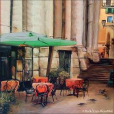 Backdrops: Street Cafe  Mural             SO BEAUTIFUL !!!