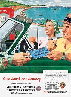 Nostalgic advertisements from the early days of mass tourism.