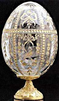Imperial Gatina Palace Crystal Egg from Fabergé Objets Antiques, Fabrege Eggs, Tsar Nicolas, Crystal Egg, Clear Crystal, Egg Art, Objet D'art, Russian Art, Easter Eggs