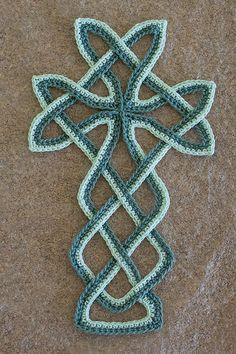 """Celtic Cross Bookmark. Pattern by Patricia Kristoffersen. PDF pattern available at """"InThreadableHome"""" on Etsy"""