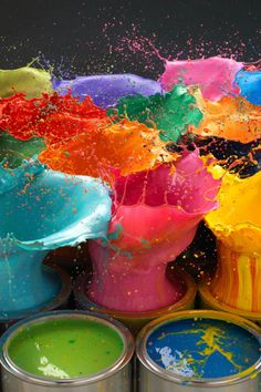 Paint Explosion By Karl Taylor #HelloRainbow