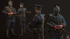 Steampunk Police Officer , by @EvozonGameDev - https://www.artstation.com/artwork/n1JEK #SubstancePainter #ThisIsSubstance