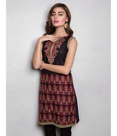 Tanzaib Kurti Shalwar Collection 2016 by Shaista Textiles D_104