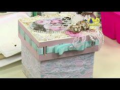 Vida com Arte | Caixa em Shabby Chic por Camila Claro - 12 de Fevereiro de 2015 - YouTube