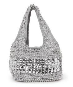 Loving this Silver Beaded Crochet Hobo on #zulily! #zulilyfinds