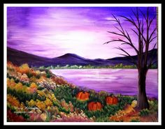 "Landscapes and paintings 2014 This is called ""Autumn and will soon be on the calendar :)"