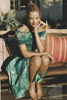 Carolyn Murphy wears Rodarte's S/S 2012 dress in the March 2012 issue of Vogue Magazine.  more van gogh