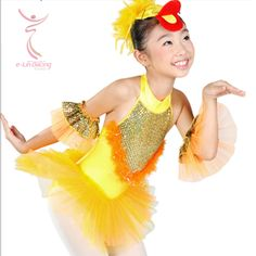 Duck costumes dance costume stage girl children ballet animal suit leotard heart shoes
