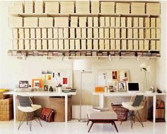 now, that's what i call an organized office! Photo by Laura Resen