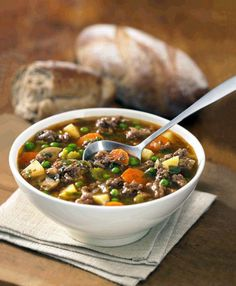 Goulash-Style Beef Hamburger Soup Recipe by Canadian Beef Hungarian Cuisine, Hungarian Recipes, Garlic Soup, Garlic Clove, Soup Recipes, Healthy Recipes, Beef And Noodles, Egg Noodles, Warm Food