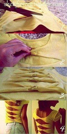 #sorority #clothing #diy #shirt #refashion diy ideas, diy shirt, diy crafts, diy fashion, decorating ideas, old shirts, diy gifts, bow, t shirts