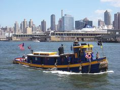 """The small but mighty push boat """"Urger"""" underway and patriotic. Tugboats, Cool Boats, Oil Rig, Rigs, Wolf, Racing, Ship, History, Places"""