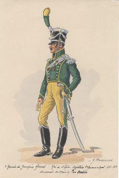 Royaume de Naples Régiment de joseph Murat  Capitaine 2e chasseurs à cheval 1811-1813