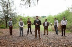 I love these mix and match ideas for bridesmaids and groomsmen.  A little touch of #vintage, #hipster, #newsies  saragphoto.com
