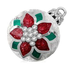 e17a47aff Poinsettia Christmas Tree Ornament Luxe Color™ Enamel Bead Charm -  Traditional