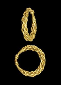 Viking Gold Plaited Finger Ring- 9th-11th century AD. A ring formed from four rods plaited, joined at the reverse and the ends wound about each other. - See more at: http://realmsofgoldthenovel.blogspot.com/2014/03/viking-gold-finger-rings.html#sthash.oineUPI8.dpuf
