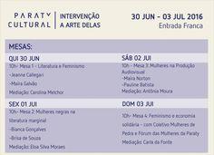 Confira a Programação da INTERVENÇÃO ARTE DELAS! #CasaDaCultura #CasaDaCulturaParaty #exposição #fotografia #música #cultura #turismo #arte #VisiteParaty #TurismoParaty #Paraty #PousadaDoCareca #ParatyCultural #PartiuBrasil #MTur #boatarde #boatardee