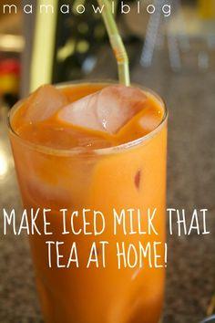 Make Iced Milk Thai Tea at Home!