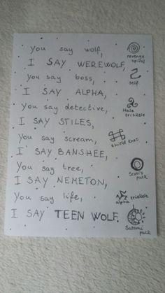 Famous Last Words – Just another WordPress site Teen Wolf Werewolf, Teen Wolf Art, Teen Wolf Scott, Teen Wolf Quotes, Teen Wolf Funny, Teen Wolf Memes, Teen Wolf Boys, Teen Wolf Dylan, Teen Wolf Stiles