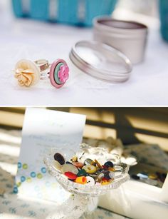 Button Rings: Cute as a Button First Birthday Party activity on HWTM
