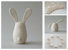 From small to big an Easter classic! High quality ceramics, great d … – keramik – SkillOfKing. Ceramics Projects, Clay Projects, Polymer Clay Crafts, Diy Clay, Crea Fimo, Diy Crafts For Gifts, Arts And Crafts, Clay Ornaments, Paperclay