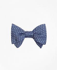 Self tie bow tie - Woven Jacquard silk in solid light blue Notch aw1sig