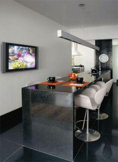 24 m²: Meio sala, meio cozinha, este ambiente gourmet no Rio de Janeiro nasc...