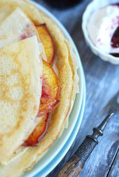 Roasted Peach Crepes Plate