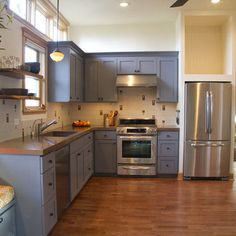 L Shaped Kitchen...  my kitchen is flipped but the same. i would want the fridge elsewhere..