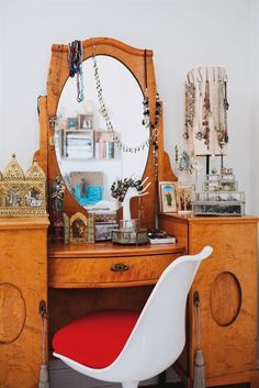 A vintage dressing table