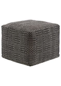 Jaipur Living National Geographic Home Black Pouf Pouf Ottoman, Chair And Ottoman, Ottoman Ideas, Antique White Furniture, Cream Furniture, Porch Furniture, Jaipur, National Geographic, Home